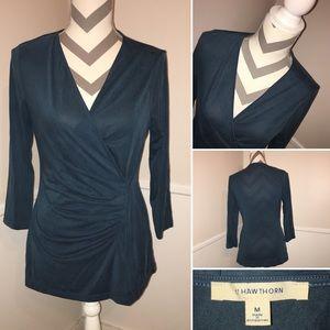 41 HAWTHORN | gathered side blouse